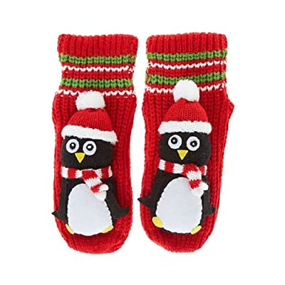 Claire's Red Winter Penguin Slipper Socks Kid's Unisex One Size