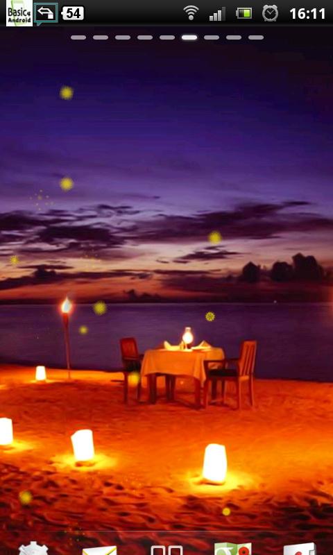 amazon com romantic beach night live wallpaper
