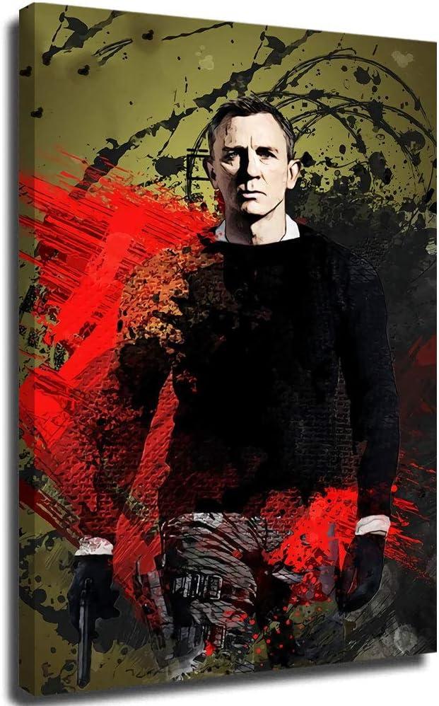 Anzonto Pictures Arts Craft For Home Wall Decor Movie 007 James Bond Looks Guapo Arte Para Salón Dormitorio 30,5 x 45,7 cm
