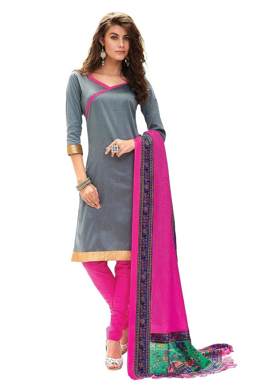 Banarasi Cotton Salwar Kameez Unstitched Fabric Indian Traditional Straight Suit