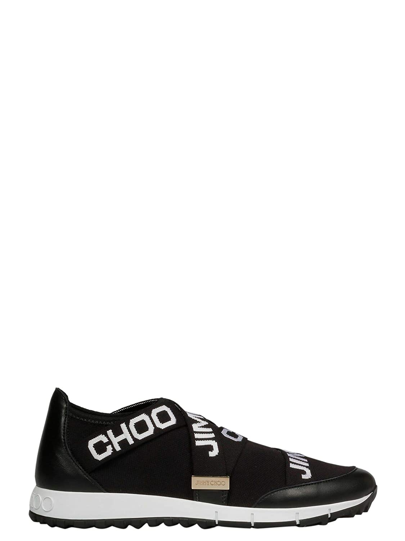 - Jimmy Choo Women's TgoldNTOXKEBLACK Black Leather Sneakers