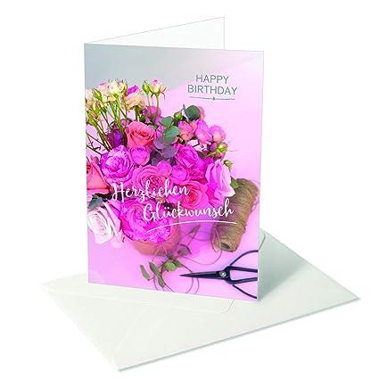 Te deseo algo/cumpleaños/Felicitaciones/Ramo de rosas rosa ...