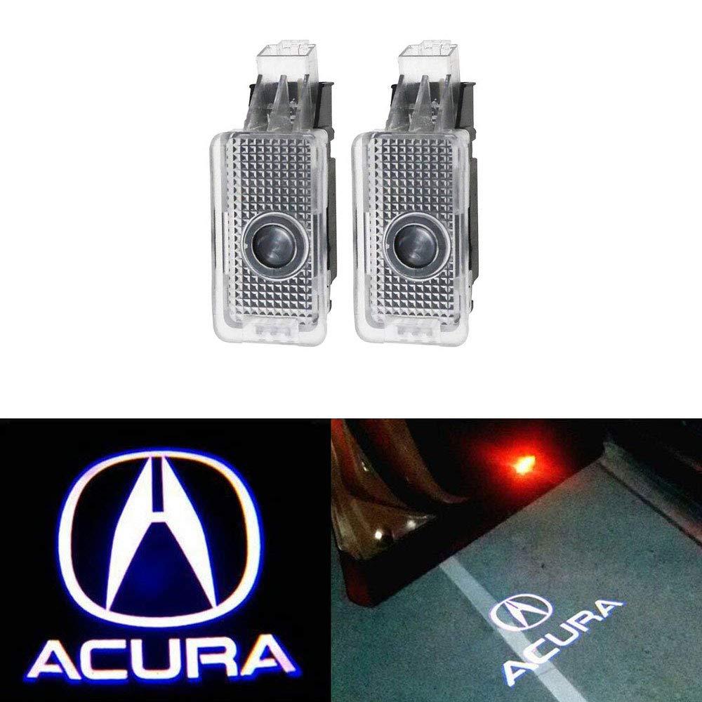 MIVISO Projecteur facile à LED de lampe de porte de voiture d'installation de logo de logo de lumières d'ombre de fantôme