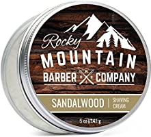 Shaving Cream for Men - Canadian Made With Sandalwood Essential Oil - Hydrating, Rich & Thick Lather for All Skin Types...