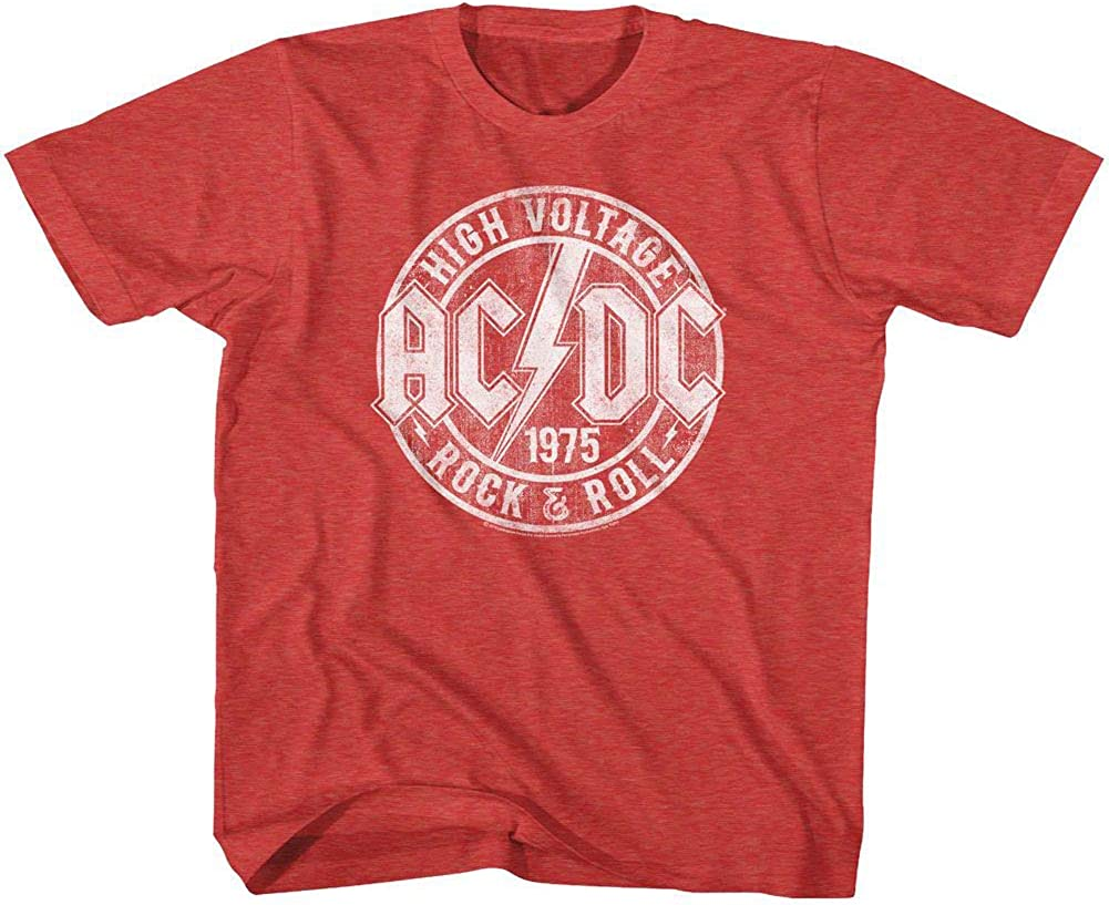 ACDC Youth Boys Kids Short Sleeve T-Shirt RED LOGO