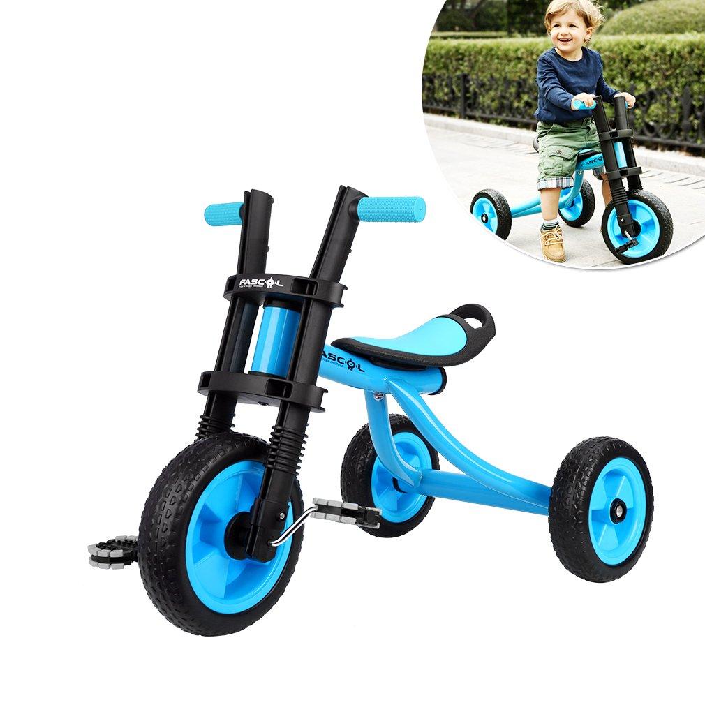 Fascol Triciclo Trike Bicicleta con Goma de Ruedas para Niños a Años