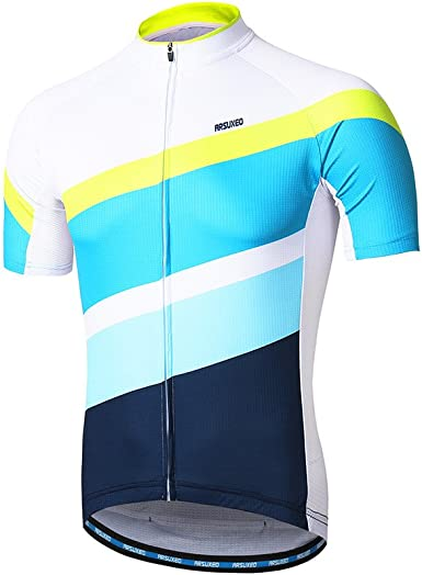 ARSUXEO - Maillot de ciclismo para hombre, de manga corta, para ...