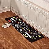Indoor mats Kitchen floor mats Bathroom non-slip mats Toilet bathroom mats-D 63x91inch(160x230cm)