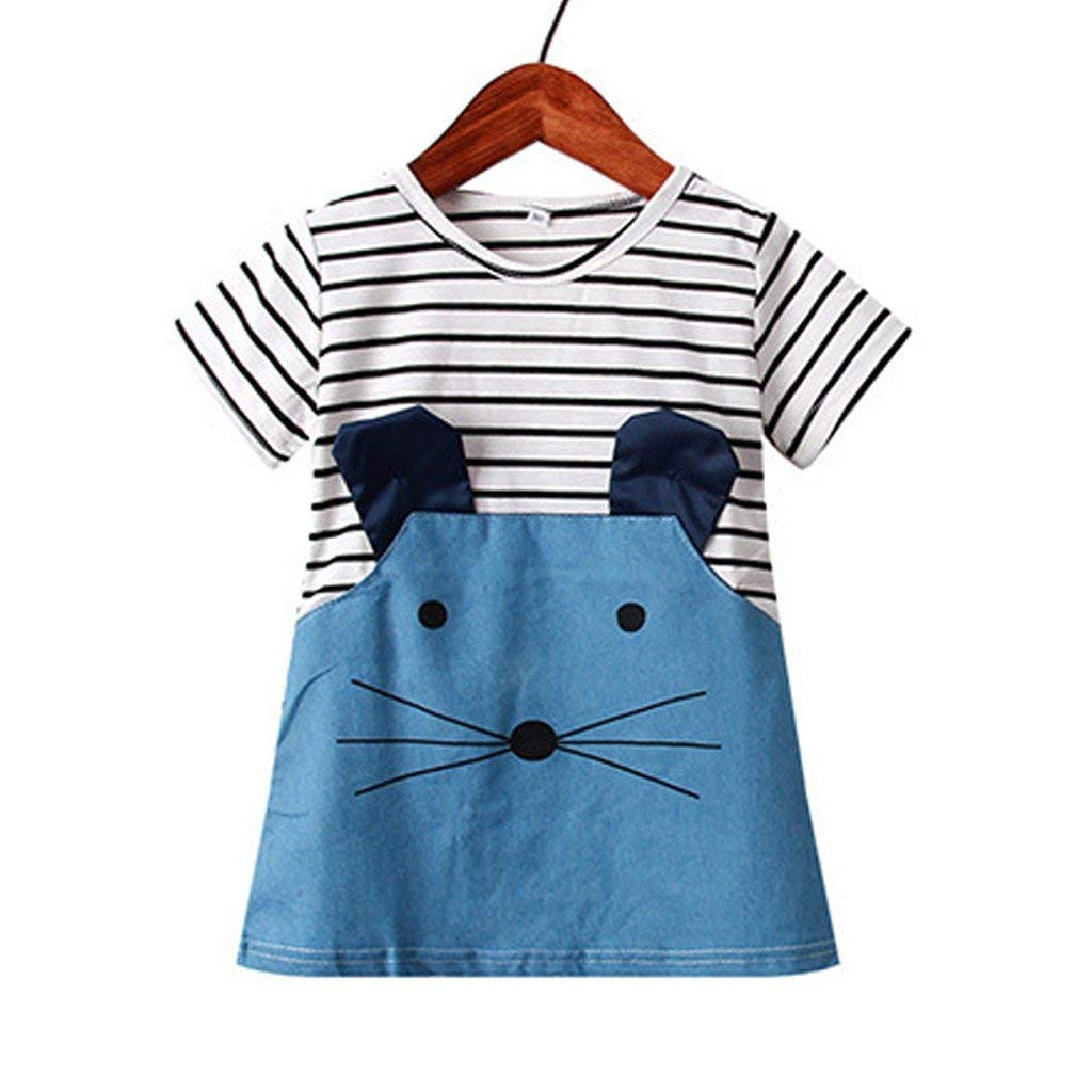 Vestido de niña, Riou Vestido de ratón de Dibujos Animados a ...