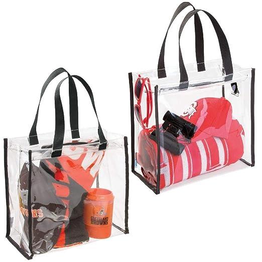 mDesign Juego de 2 bolsas de viaje perfectas para accesorios – Bolsa para playa o para artículos de higiene y cosméticos – Práctico bolso multiusos – ...