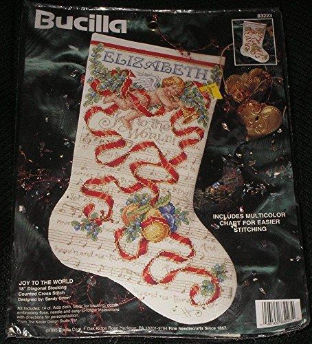 "Bucilla ""Joy to the World"" Music Christmas Cross Stitch Stoc"