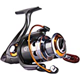 Sougayilang Spinning Fishing Reels with Left/Right Interchangeable Collapsible Wood Handle Powerful Metal Body 5.2:1/5.1…