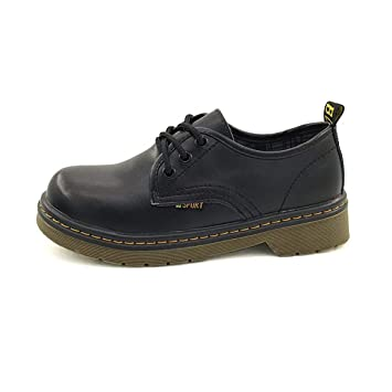 KOKQSX-In autumn and winter small leather shoes wild style retro students   shoes muffin d5407be6ff5