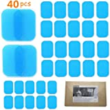 QQDS Replacement Gel Sheet for Abdominal Toning Belt, Replacement Gel Pads for EMS AB Trainer Waist Trimmer Belt ABS Toner Body Muscle Trainer