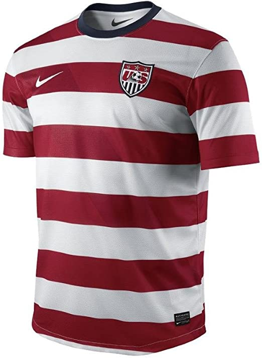 Icon Sports United States USA Soccer V-Neck Striped Adult Mens Jersey T-Shirt