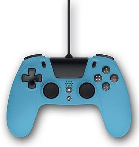 Gioteck - Mando con cable color azul Gioteck VX-4 para PlayStation 4 (Windows): Amazon.es: Videojuegos