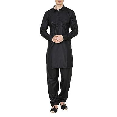 Royal Traje Tradicional Pathani de Lino y algodón Indio para ...