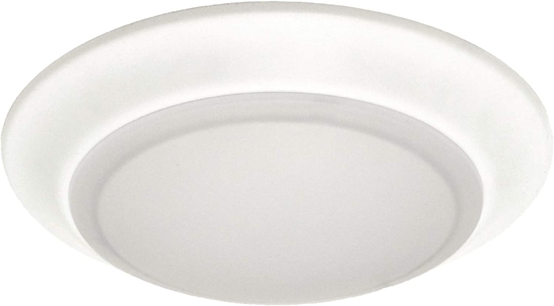 6 inch LED Disk Light Surface Mount or Junction Box Mount Low Profile Flush Mount Ceiling Light 4000k Warm White 750 Lumens, Dimmable, Shower Closet Light (4000K 1PK)