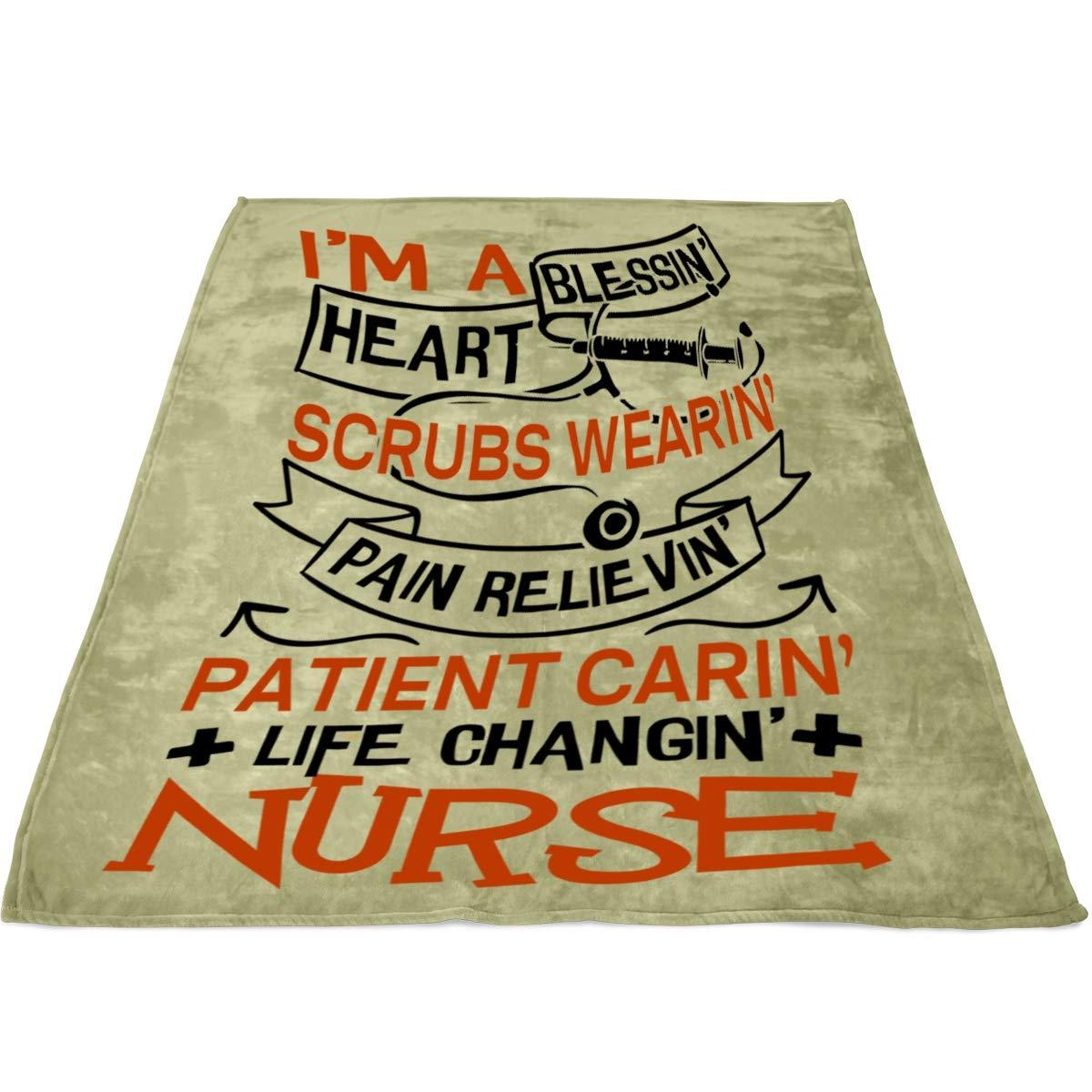Amazon.com: TUCSTORE Im A Nurse Blanket, Bedding Fleece ...