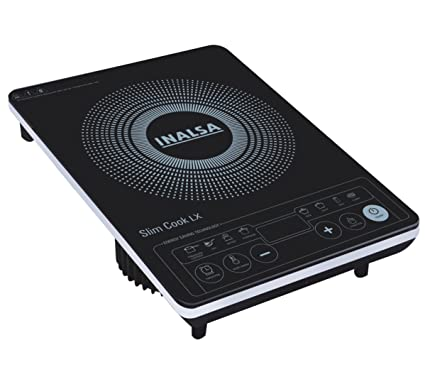 Inalsa Slim Cook Lx 1800-Watt Induction Cooker (Black/White)