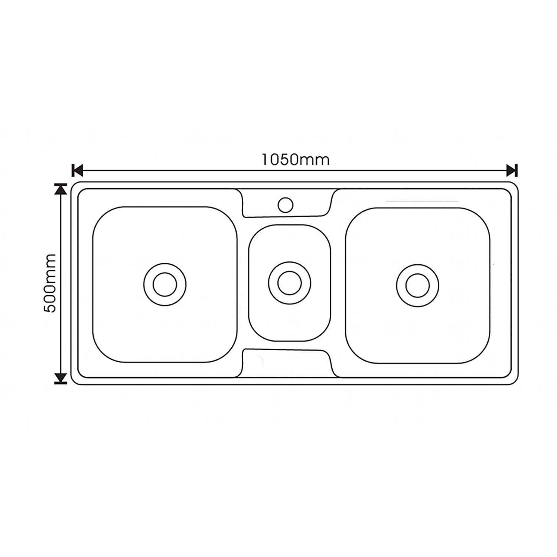 Enki single double 1 5 bowl reversible stainless steel kitchen sink - Enki Stainless Steel 2 5 Two Half Three Bowl Square Inset Kitchen Sink Amazon Co Uk Diy Tools