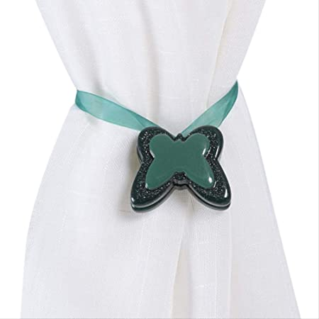 Accessori per Cintura Decorazioni per la casa per Camera da Letto Supporto per Cintura Clip per Tende magnetiche retrattili con Fibbia Argento Cravatta Soggiorno