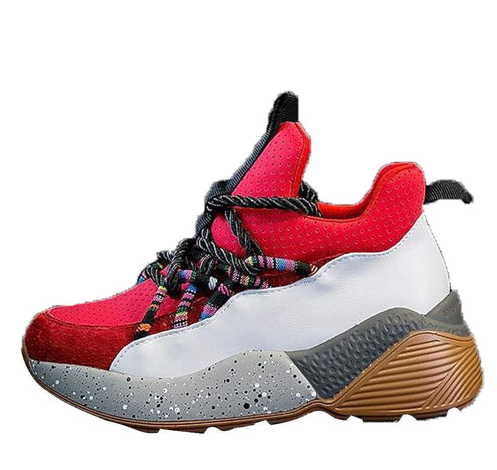 GoldGOD Joker Platform Sportschuhe Ins Schuhe Student Freizeitschuhe Atmungsaktiv rot 38UK