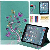 iPad Air 1st Case, Dteck(TM) Retro Design Premium Leather Skin Flip Stand Smart Cover with Auto Wake/Sleep Feature Magnetic Snap Smartshell for iPad Air/5th 9.7 inch Tablet--GREEN