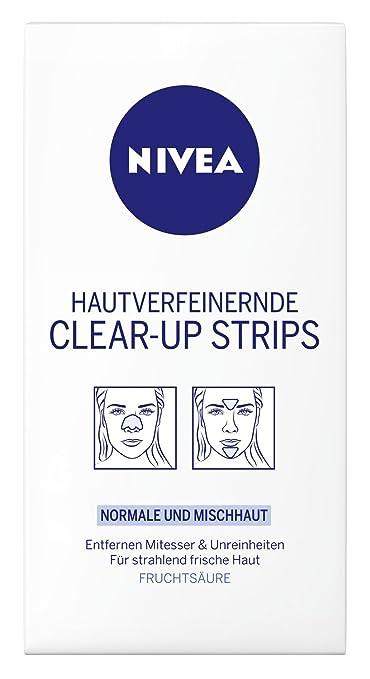 141 opinioni per Nivea, Clear-Up Strips viso, per la rimozione di punti neri e impurità, 6 pz., 4