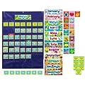 Carson Dellosa Cd 158156 Deluxe Calendar Pocket Chart