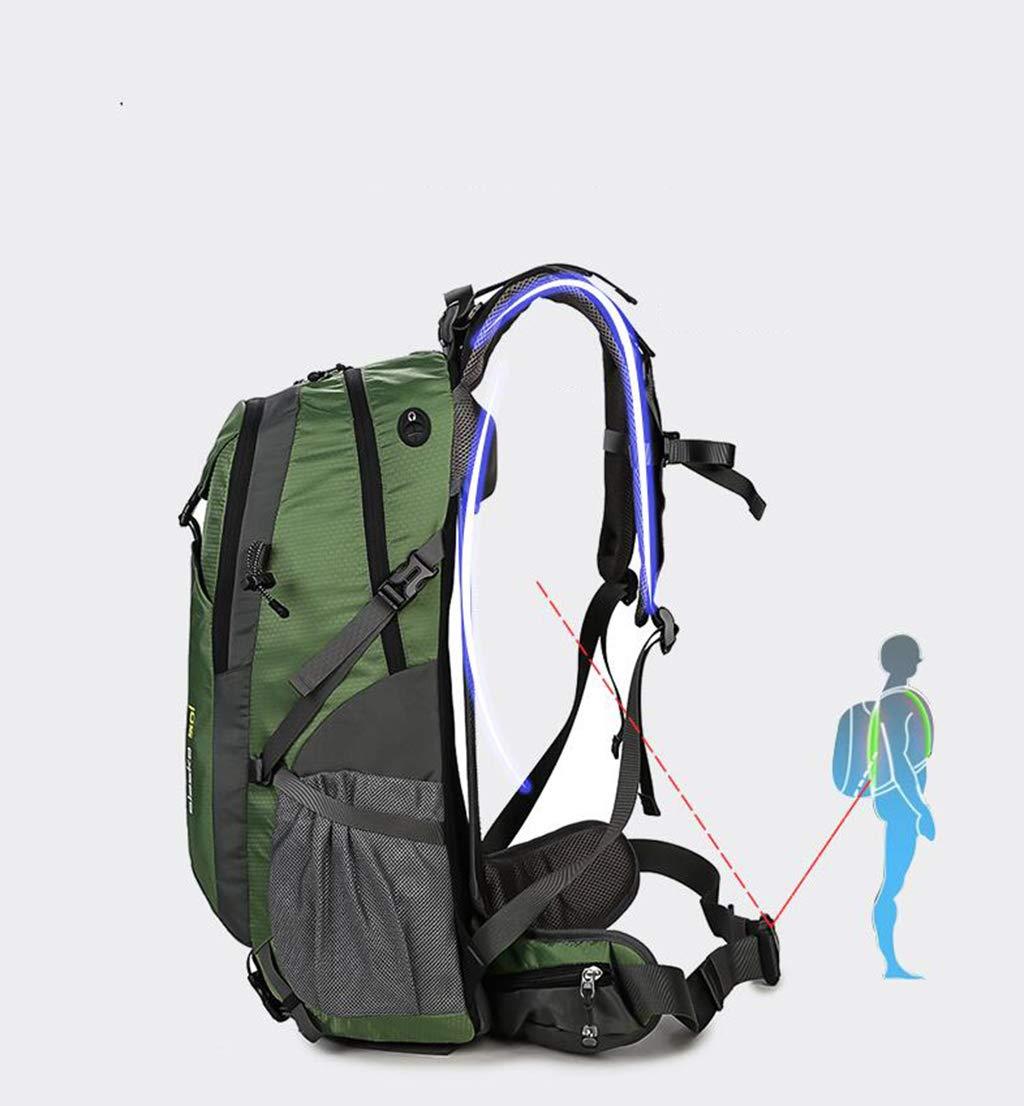 LXFMD Outdoor Bergsteigenbeutel Bergsteigenbeutel Bergsteigenbeutel männlich Wasserdichte Reisetasche große Kapazität große Wandern Reiserucksack 40L50L60L Rucksack B07MJFC3B2 Turnbeutel In hohem Grade geschätzt und weit Grünrautes herein und heraus 691097