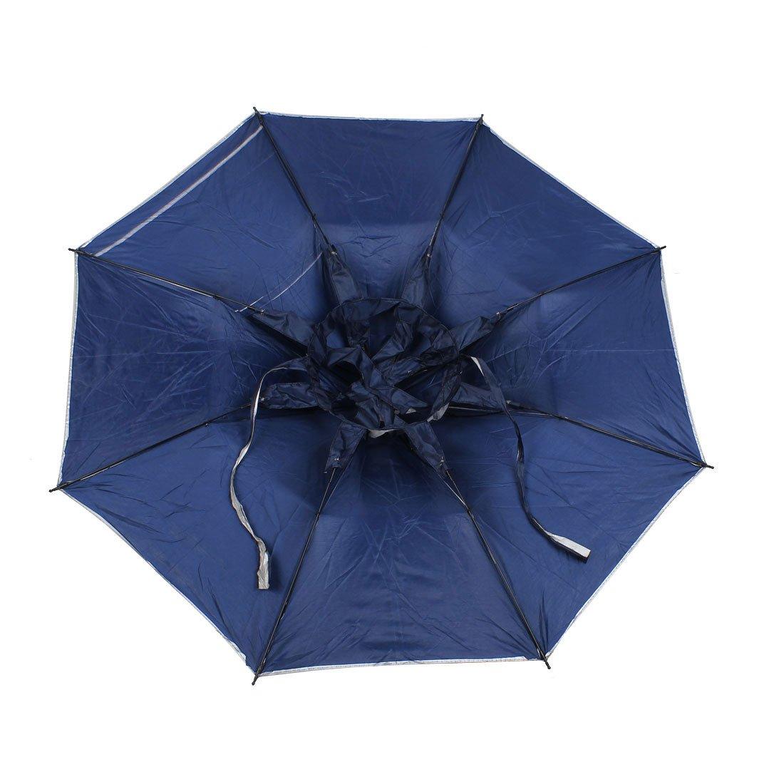 Pesca al aire libre caza correa paraguas plegable sombrero Headwear gris: Amazon.es: Deportes y aire libre