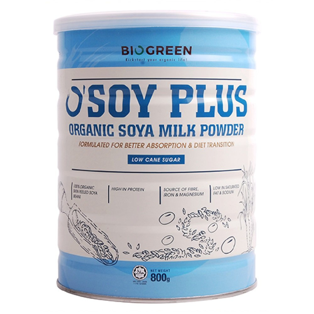 Biogreen Organic Low Sugar Soy milk 800g (628MART) (1 Count)
