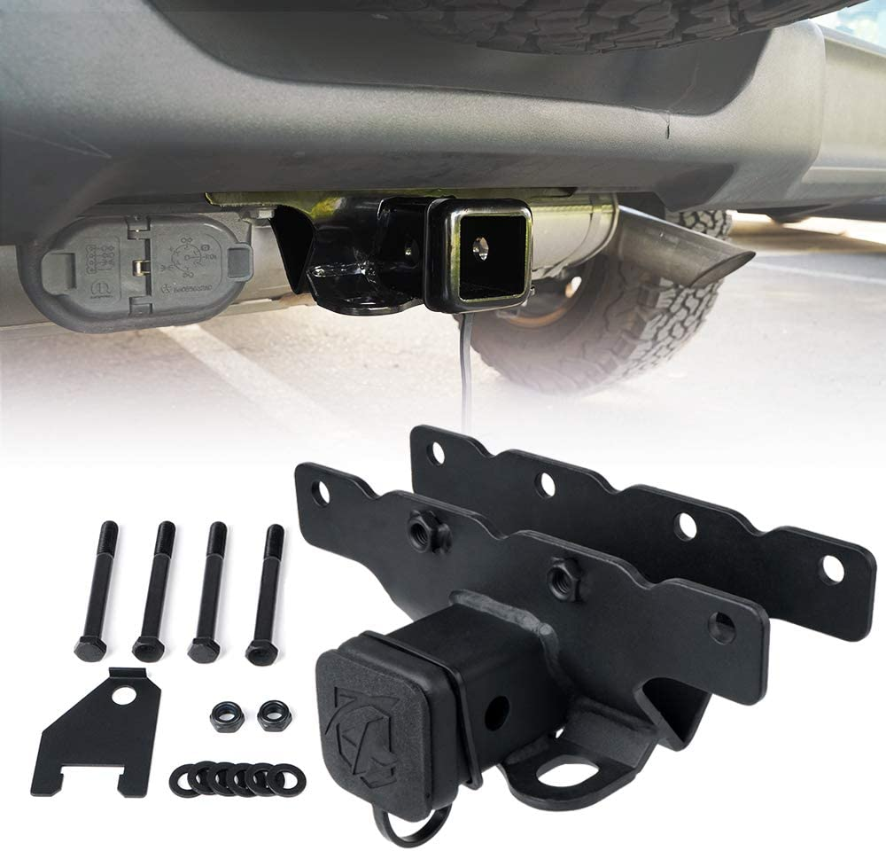 Xprite 2 Inch Towing Trailer Hitch Receiver for 2018-2019 Jeep Wrangler JL//JLU 2 Door /& 4 Door with Hitch Cover