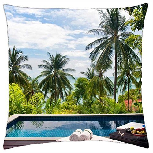 - Sea View Pool Hideaway - Throw Pillow Cover Case (18