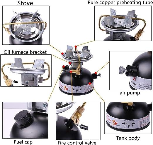 Zdmathe Hornillo portátil de gasolina para camping, cocina de gas, estufa para exterior, camping o picnic.
