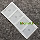 Star-Trade-Inc - CX102 Poker A Shaped Silicone Mold Chocolate Mold Cake Decoration