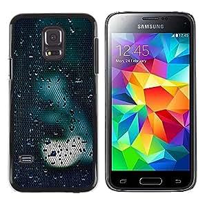 FECELL CITY // Duro Aluminio Pegatina PC Caso decorativo Funda Carcasa de Protección para Samsung Galaxy S5 Mini, SM-G800, NOT S5 REGULAR! // Light Sad Dark Reflection