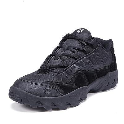 emansmoer Homme Imperméable Respirant Outdoor Sport Chaussures de Randonnée Trekking Low-top Lace-up Combat Sneakers