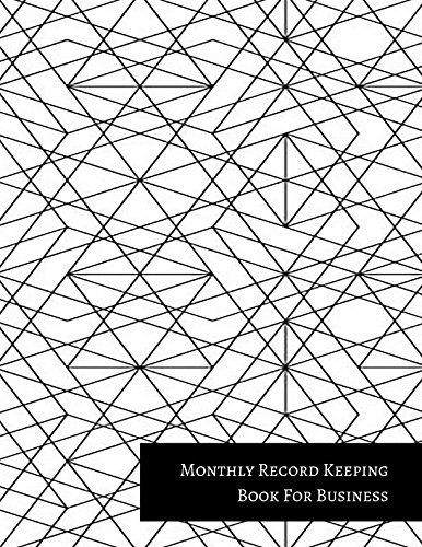 Monthly Record Keeping Book For Business