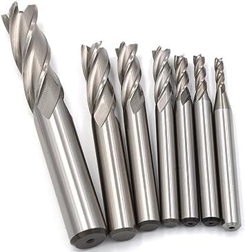 4 Flute High Speed 10mm Shank 75mm Rough End Mill CNC Bit Milling Cutter Drill