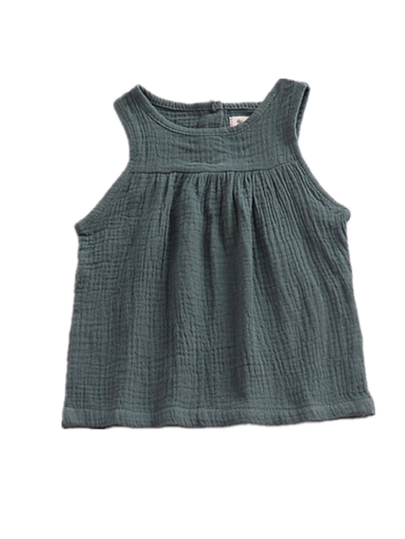 AYIYO Baby Infant Toddler Girls Sleeveless Ruffled Tank Top Shirt
