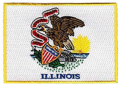 (Backwoods Barnaby Illinois Flag Patch/Sew-On Morale Patch Emblem Seal (US State IL, 2.5