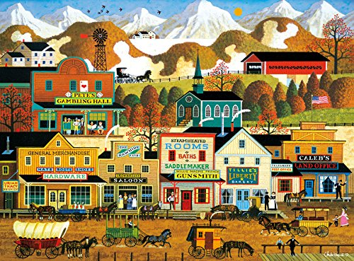 Buffalo Games - Charles Wysocki -  Pete's Gambling Hall - 1000 Piece Jigsaw Puzzle by Buffalo Games
