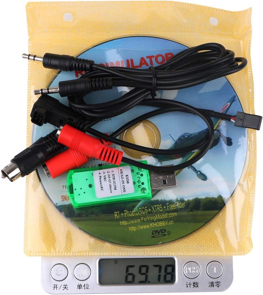 LITEBEE 22 in 1 RC Flight Simulator Adapter Kable for G7 Phoenix 5.0 XTR VRC Transmitter Flysky Frsky Remote Controller FPV Racing