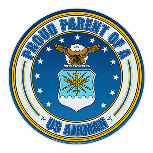 Round Magnet - Proud Parent of a US Airman - USAF United States Airforce - 5