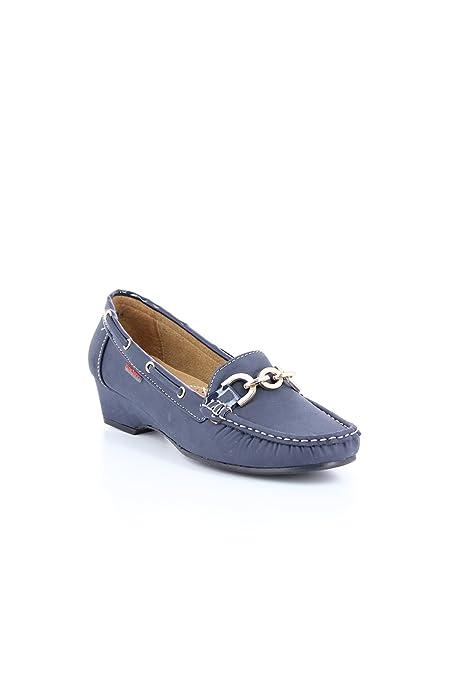 zonedachat - Mocasines Mujer , Marrón (azul), 39: Amazon.es: Zapatos y complementos