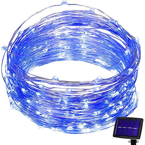 Blue Solar Powered Fairy Lights - 1