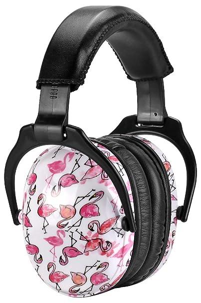 Ohrenschützer Verstellbar von ZOHAN, Gehörschutz Kind Baby, Lärmschutz Kopfhörer Anti-Lärm bis NRR 22dB, Flamingo MEHRWEG