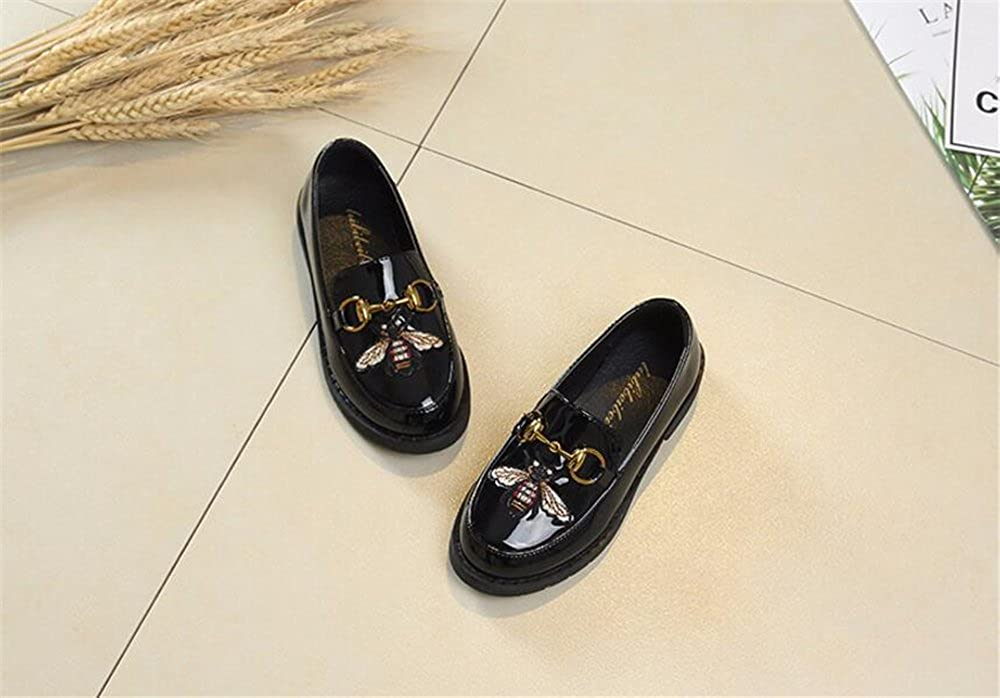 24XOmx55S99 Girls Patent Leather Slip On Spring Oxfords Shoes Sweet Cute Loafers Princess Dress Shoes